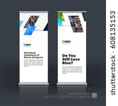 abstract business vector set of ... | Shutterstock .eps vector #608135153