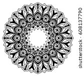 mandalas for coloring book.... | Shutterstock .eps vector #608137790