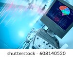 brain examination with the... | Shutterstock . vector #608140520