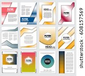 halftone flyer style background ... | Shutterstock .eps vector #608157569
