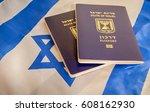 state of israel passport ... | Shutterstock . vector #608162930