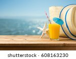 summer holiday vacation concept ... | Shutterstock . vector #608163230