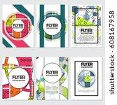 memphis background style design ... | Shutterstock .eps vector #608167958