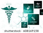 2d illustration health care and ... | Shutterstock . vector #608169158