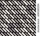 vector seamless black and white ... | Shutterstock .eps vector #608180204