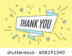 ribbon banner with text thank... | Shutterstock .eps vector #608191340