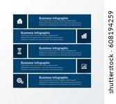 modern infographics options...   Shutterstock .eps vector #608194259