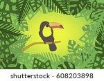 toucan vector | Shutterstock .eps vector #608203898
