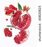 falling pomegranate slices.... | Shutterstock . vector #60820825