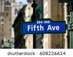 fifth avenue new york city  ... | Shutterstock . vector #608226614