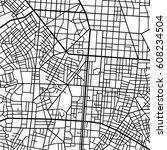 street map texture  vector | Shutterstock .eps vector #608234504