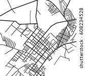 street map texture  vector | Shutterstock .eps vector #608234528