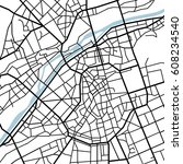 street map texture  vector | Shutterstock .eps vector #608234540