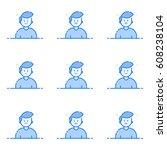 vector illustration of blue...   Shutterstock .eps vector #608238104