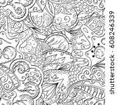 tracery seamless calming... | Shutterstock .eps vector #608246339