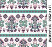 hand drawn vector ethnic... | Shutterstock .eps vector #608246654