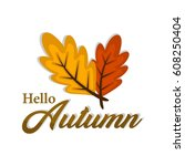 autumn illustration vector | Shutterstock .eps vector #608250404