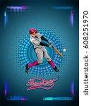 baseball batter illustration   Shutterstock .eps vector #608251970