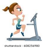Fitness. Sports Girl Running O...
