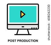 post production colour line icon | Shutterstock .eps vector #608262230