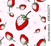 seamless pattern background... | Shutterstock .eps vector #608263379