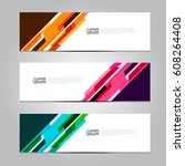 vector design banner background. | Shutterstock .eps vector #608264408