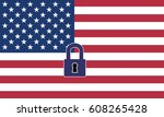 usa closed borders. the united... | Shutterstock . vector #608265428