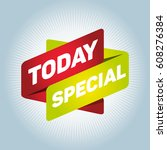 today special arrow tag sign. | Shutterstock .eps vector #608276384
