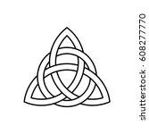 celtic trinity knot vector ... | Shutterstock .eps vector #608277770