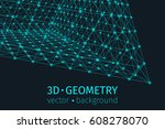 abstract triangle vector... | Shutterstock .eps vector #608278070