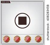 stop button vector icon | Shutterstock .eps vector #608283458