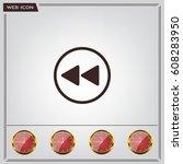 rewind  vector icon | Shutterstock .eps vector #608283950