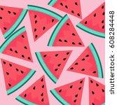watermelon background | Shutterstock .eps vector #608284448