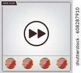 rewind  vector icon | Shutterstock .eps vector #608287910