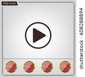 play button web icon  flat... | Shutterstock .eps vector #608288894