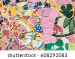 spanish mosaic. abstract... | Shutterstock . vector #608292083