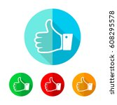 set of colored thumb up icons.... | Shutterstock .eps vector #608295578