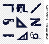 length icons set. set of 9... | Shutterstock .eps vector #608298899