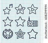set of 9 favorite outline icons ...