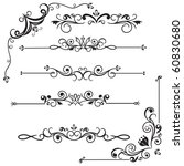 decorative borders | Shutterstock .eps vector #60830680