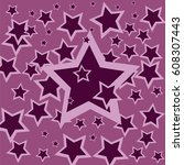 big star and small stars | Shutterstock .eps vector #608307443