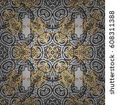 seamless pattern floral pattern....   Shutterstock .eps vector #608311388