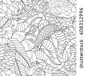 tracery seamless pattern.... | Shutterstock .eps vector #608312996