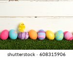 Colorful Easter Eggs In A Row...