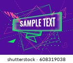 abstract futuristic geometric... | Shutterstock .eps vector #608319038