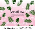 abstract vector layout with... | Shutterstock .eps vector #608319230
