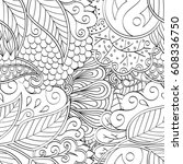 tracery seamless pattern.... | Shutterstock .eps vector #608336750