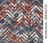 grunge chevron vector pattern... | Shutterstock .eps vector #608340734