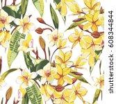 elegance seamless pattern in... | Shutterstock .eps vector #608344844