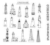 Vector Line Set Of Doodle...